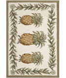 RugStudio presents Safavieh Chelsea HK717A Ivory / Green Hand-Hooked Area Rug
