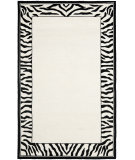 RugStudio presents Safavieh Chelsea HK731A White / Black Hand-Hooked Area Rug