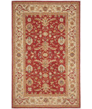 RugStudio presents Rugstudio Sample Sale 46472R Red / Ivory Hand-Hooked Area Rug