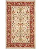 RugStudio presents Rugstudio Sample Sale 46473R Ivory / Red Hand-Hooked Area Rug
