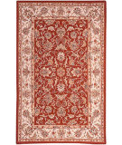 RugStudio presents Rugstudio Sample Sale 49999R Burgundy / Ivory Hand-Hooked Area Rug
