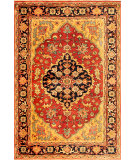 RugStudio presents Safavieh Heriz Hrz101a Red / Multi Hand-Knotted, Best Quality Area Rug