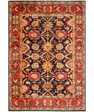 RugStudio presents Safavieh Heriz Hrz103a Navy / Red Hand-Knotted, Best Quality Area Rug
