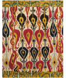 RugStudio presents Safavieh Ikat IKT222A Cream / Green Hand-Tufted, Good Quality Area Rug