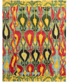RugStudio presents Safavieh Ikat IKT222B Blue / Green Hand-Tufted, Good Quality Area Rug