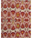 RugStudio presents Safavieh Ikat IKT226A Ivory / Red Hand-Tufted, Good Quality Area Rug