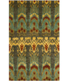 RugStudio presents Safavieh Ikat IKT464B Olive / Gold Hand-Tufted, Good Quality Area Rug