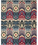 RugStudio presents Safavieh Ikat IKT466A Beige / Blue Hand-Tufted, Good Quality Area Rug