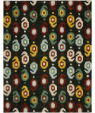 RugStudio presents Safavieh Ikat IKT471A Charcoal / Multi Hand-Tufted, Good Quality Area Rug
