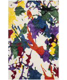 RugStudio presents Safavieh Isaac Mizrahi Imr610a White Splatter Hand-Tufted, Best Quality Area Rug