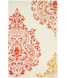 RugStudio presents Safavieh Isaac Mizrahi Imr720g Beige - Orange Hand-Tufted, Good Quality Area Rug