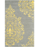 RugStudio presents Safavieh Isaac Mizrahi Imr720k Grey - Orange Hand-Tufted, Good Quality Area Rug