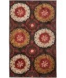 RugStudio presents Safavieh Kashmir Kas111a Brown / Red Machine Woven, Better Quality Area Rug