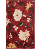 RugStudio presents Safavieh Kashmir Kas112b Red / Ivory Machine Woven, Better Quality Area Rug
