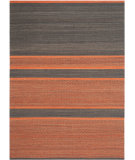 RugStudio presents Safavieh Kilim Klm952c Dark Grey / Orange Flat-Woven Area Rug