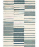 RugStudio presents Safavieh Kilim Klm953a Blue / Ivory Flat-Woven Area Rug