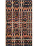 RugStudio presents Safavieh Kenya Kny609a Orange / Black Hand-Knotted, Better Quality Area Rug