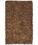RugStudio presents Safavieh Leather Shag Lsg511b Saddle Area Rug