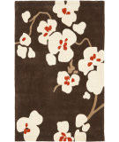 RugStudio presents Rugstudio Sample Sale 66352R Brown / Ivory Hand-Tufted, Better Quality Area Rug