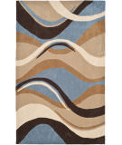 RugStudio presents Safavieh Modern Art Mda617a Blue / Brown Hand-Tufted, Better Quality Area Rug