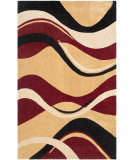 RugStudio presents Safavieh Modern Art Mda617b Rust / Ivory Hand-Tufted, Better Quality Area Rug