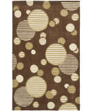 RugStudio presents Safavieh Modern Art Mda619b Brown / Multi Hand-Tufted, Better Quality Area Rug