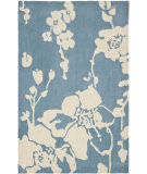 RugStudio presents Safavieh Modern Art Mda621a Blue / Ivory Hand-Tufted, Better Quality Area Rug