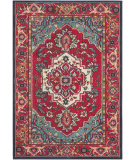 RugStudio presents Safavieh Monaco Mnc207c Red - Turquoise Machine Woven, Better Quality Area Rug