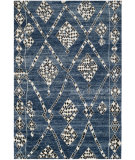 RugStudio presents Safavieh Moroccan Mor553b Blue / Black Hand-Knotted, Good Quality Area Rug