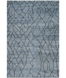 RugStudio presents Safavieh Moroccan Mor555b Blue / Black Hand-Knotted, Good Quality Area Rug