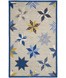 RugStudio presents Martha Stewart By Safavieh Msr3751 Lemoyne Star A Hand-Tufted, Good Quality Area Rug