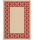 RugStudio presents Safavieh Martha Stewart Msr4257 Creme / Red Woven Area Rug