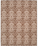 RugStudio presents Safavieh Metropolis MTP527-1125 Creme / Brown Machine Woven, Good Quality Area Rug