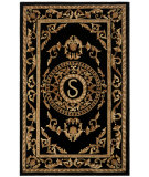 RugStudio presents Rugstudio Sample Sale 80712R Black Hand-Tufted, Good Quality Area Rug