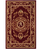 RugStudio presents Safavieh Naples NA519A Burgundy Hand-Tufted, Good Quality Area Rug