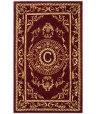 RugStudio presents Safavieh Naples NA519C Burgundy Hand-Tufted, Good Quality Area Rug