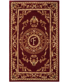 RugStudio presents Safavieh Naples NA519F Burgundy Hand-Tufted, Good Quality Area Rug