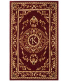 RugStudio presents Safavieh Naples NA519K Burgundy Hand-Tufted, Good Quality Area Rug