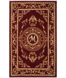 RugStudio presents Safavieh Naples NA519M Burgundy Hand-Tufted, Good Quality Area Rug