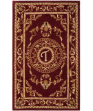 RugStudio presents Safavieh Naples NA519T Burgundy Hand-Tufted, Good Quality Area Rug