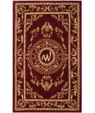 RugStudio presents Safavieh Naples NA519W Burgundy Hand-Tufted, Good Quality Area Rug