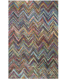 RugStudio presents Safavieh Nantucket Nan141c Blue / Multi Hand-Hooked Area Rug