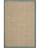 RugStudio presents Safavieh Natural Fiber Nf114m Natural / Light Blue Woven Area Rug