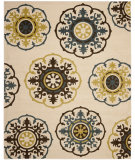 RugStudio presents Safavieh Newbury Nwb8699 Ivory / Blue Machine Woven, Good Quality Area Rug