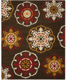 RugStudio presents Safavieh Newbury Nwb8699 Brown / Red Machine Woven, Good Quality Area Rug