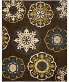 RugStudio presents Safavieh Newbury Nwb8699 Brown / Green Machine Woven, Good Quality Area Rug