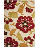RugStudio presents Safavieh Newbury Nwb8702 Ivory / Red Machine Woven, Good Quality Area Rug