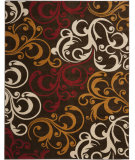 RugStudio presents Safavieh Newbury Nwb8703 Brown / Gold Machine Woven, Good Quality Area Rug