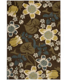 RugStudio presents Safavieh Newbury Nwb8706 Brown / Mustard Machine Woven, Good Quality Area Rug