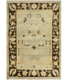 RugStudio presents Rugstudio Sample Sale 100674R Light Blue / Brown Hand-Knotted, Best Quality Area Rug